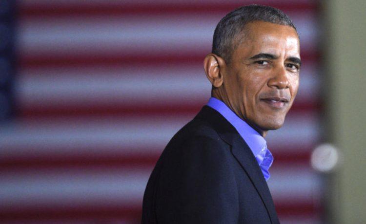 Former president Barack Obama speaks during a rally for New Jersey Democratic Gubernatorial candidate Jim Murphy in Newark, New Jersey, U.S. October 19, 2017. REUTERS/Mark Makela