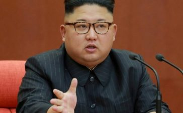 FILE PHOTO: North Korean leader Kim Jong Un speaks during the Second Plenum of the 7th Central Committee of the Workers' Party of Korea (WPK) at the Kumsusan Palace of the Sun, in this undated photo released by North Korea's Korean Central News Agency (KCNA) in Pyongyang October 8, 2017. KCNA/via REUTERS