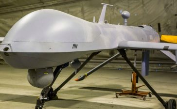 A MQ-1B Predator Unmanned Aerial System vehicle that is part of Task Force Odin, stands inside a hangar at Bagram Air Field in the Parwan province of Afghanistan January 3, 2015. (Photo: REUTERS/Lucas Jackson)
