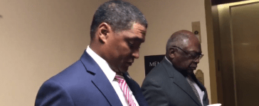 Congressional Black Caucus Members James Clyburn and Cedric Richmond Video screenshot/Twitter/alexnbcnews
