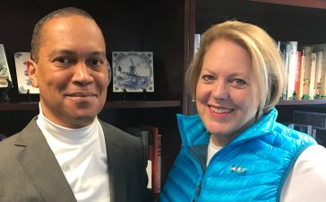 Ginni Thomas with Dr. Jason D. Hill (TheDCNF/Sean Moody)