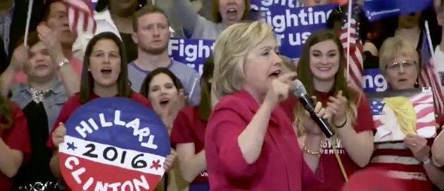 Hillary CNN screenshot
