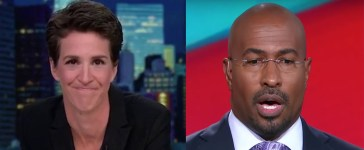 Maddow and Van Jones CNN MSNBC Youtube screenshots