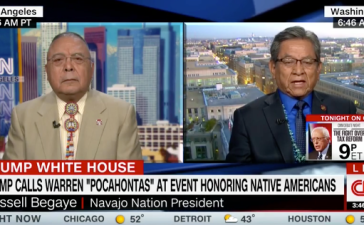 Navajo Nation President Nov 28 CNN New Day Screenshot