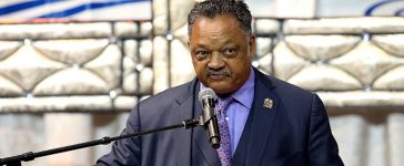 BATON ROUGE, LA - JULY 15: Rev. Jesse Jackson speaks to friends and family during the funeral of Alton Sterling at Southern University on July 15, 2016 in Baton Rouge, Louisiana. Sterling was shot by a police officer in front of the Triple S Food Mart in Baton Rouge on July 5th, leading the Department of Justice to open a civil rights investigation. (Photo by Sean Gardner/Getty Images)