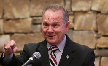 Judge Roy Moore speaks as he participates in the Mid-Alabama Republican Club's Veterans Day Program in Vestavia Hills, Alabama, U.S. November 11, 2017. REUTERS/Marvin Gentry