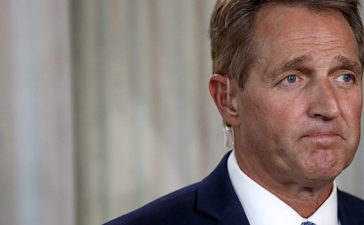 WASHINGTON, DC - OCTOBER 24: Sen. Jeff Flake (R-AZ) speaks to reporters on Capitol Hill after announcing he will not seek re-election October 24, 2017 in Washington, DC. Flake announced that he will leave the Senate after his term ends in 14 months. (Photo by Win McNamee/Getty Images)