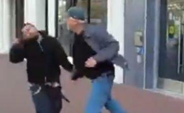 The fight (Screenshot / LiveLeak)