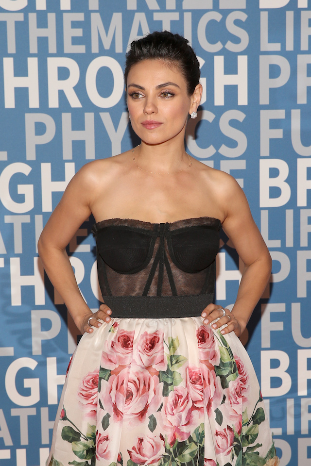 Actor Mila Kunis attends the 2018 Breakthrough Prize at NASA Ames Research Center on December 3, 2017 in Mountain View, California. (Photo by Jesse Grant/Getty Images)
