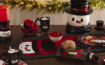 Normally $33, this snowman serving platter is 55 percent off (Photo via Amazon)