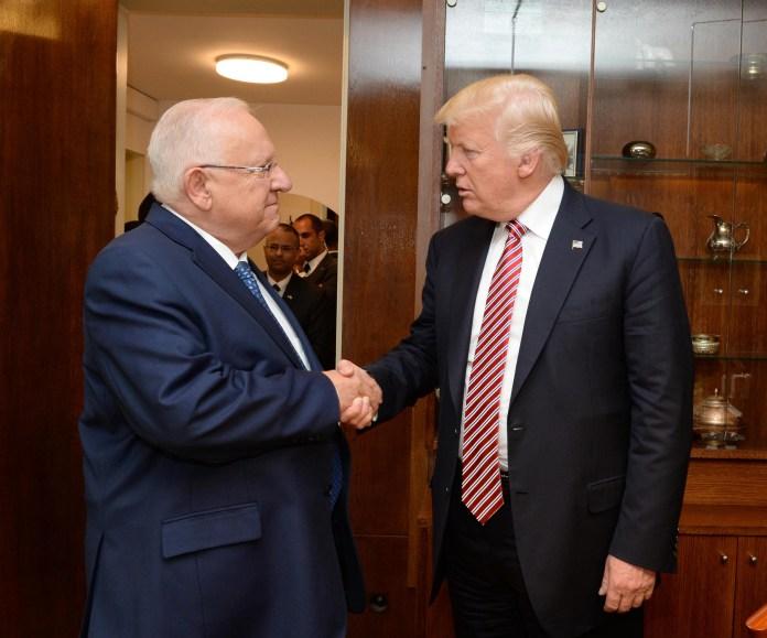 President Trump with Israeli President