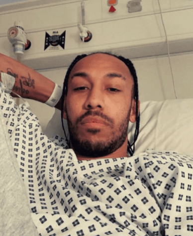 Aubameyang returns home after 2 days in hospital