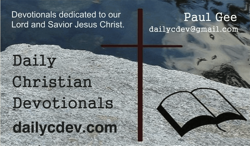 Daily Christian Devotionals Card (Front)