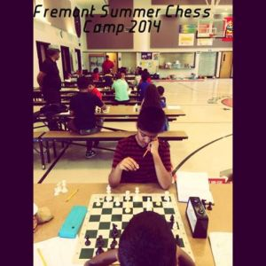 Some of our older students battling it out in USCF rated chess games.