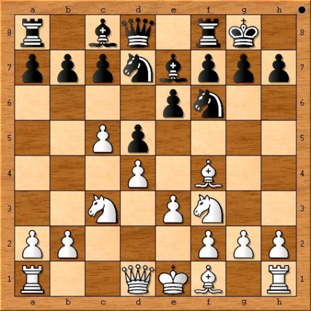 Position after Viswanathan Anand plays 7. c5.