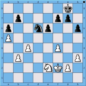 White's king can get to the center faster.
