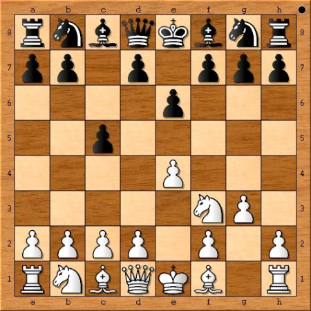 The position after Magnus Carlsen plays 3. g3.