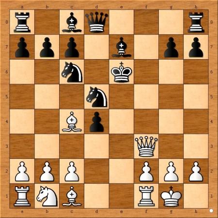 Position after 9... Ke6.