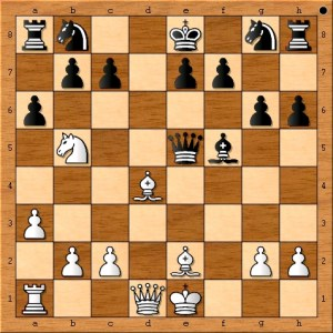 "The position after 12. Bd4. ""Lots of Tactics now!"""