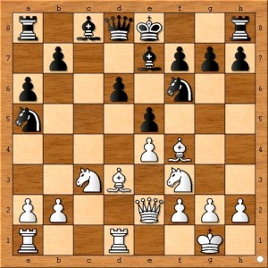Black moves a pawn into the center and seemingly assures that Susan Polgar's white bishop remains blocked by her own pawn on e4.