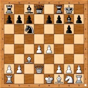 Magnus Carlsen chooses the rarely played 8... Nc6.