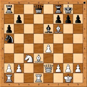 If Susan Polgar had wanted to win with a better endgame she could have played this instead: ( 16.Bxa6 Qb6 17.Bxf6 Qxa6 18.Qxa6 Rxa6 19.Bh4 )
