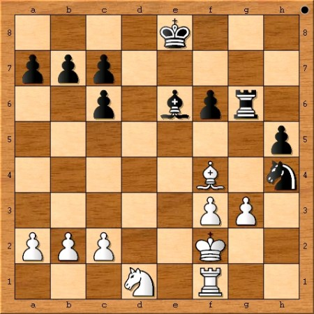 Position after Magnus Carlsen plays 21. Nxd1.