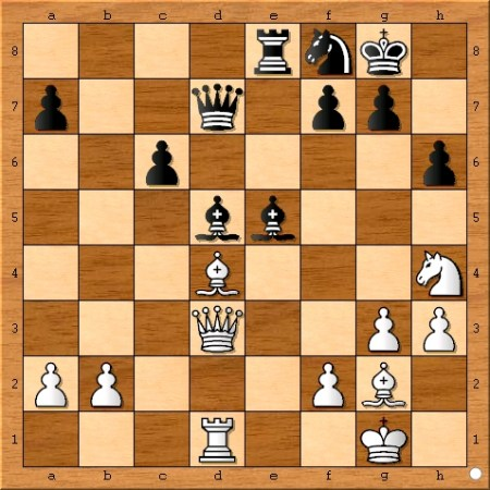 The position after Viswanathan Anand plays 24... Be5.