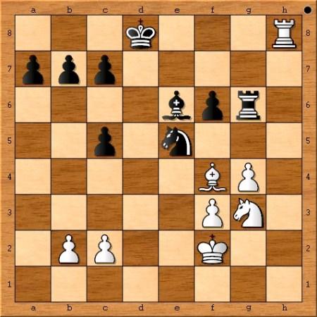 Position after Magnus Carlsen plays 29. Rh8+.