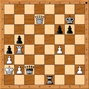 """""""And game 1 of the 2014 FIDE World Chess Championship ends in a draw by way of perpetual check."""""""
