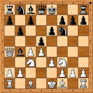 The rule of not bringing the queen out too early is ignored for the purpose of punishing Ted Castro's mistake. There is now nothing the chess amateur, Ted Castro, can do to avoid losing a piece in the opening phase of the game.