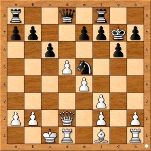 Position after Carlsen plays 13... c6.