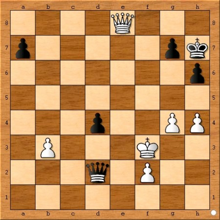 Final position from Game 4 of the 2014 FIDE World Chess Championship