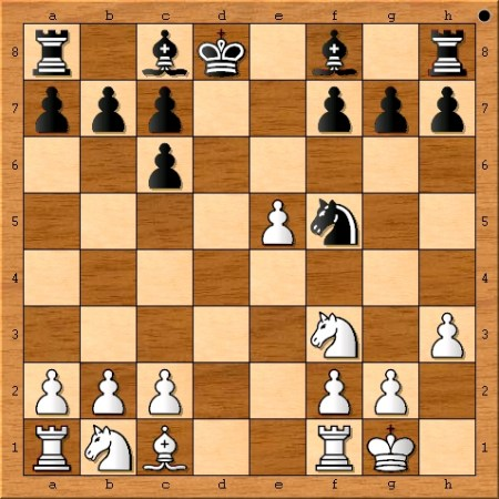 The position after Magnus Carlsen plays 9. h3.