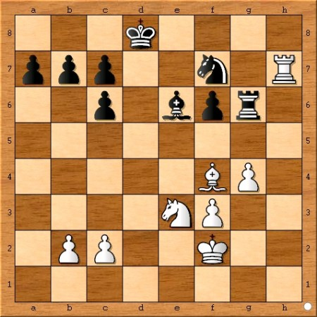 Position after Viswanathan Anand plays 26... Kd8.