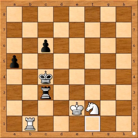 The position after Viswanathan Anand plays 80... Kc4.