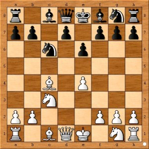 "This is a good choice for black as it blocks white's bishop from the weak f7 square. Obviously, in ""1) e4 e5"" openings black does not have this luxury."
