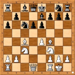 The more aggressive 8...b5 was good enough for a draw in Kim Yap - Marat Dzhumaev, 2012.