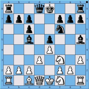 By placing his knight on f1, Anand played an early innovation in the Ruy Lopez, Berlin Defence.