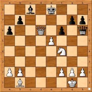Black does not resign because Polgar's knight is pinned to a checkmate.