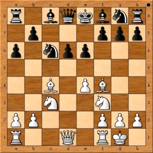Susan Polgar brings in another piece and now has a 4 to 1 advantage in development. Dimitrov Pavel of Bulgaria had a very nice win against a 2600 rated opponent by means of a different path.