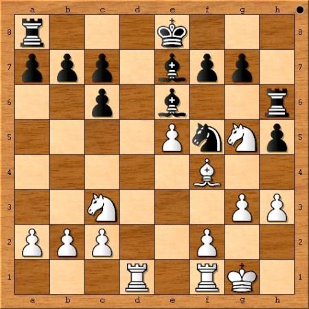 Position after Magnus Carlsen plays 14. g3.