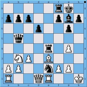 Black to move and win. (What did Magnus Carlsen play on move 17?)