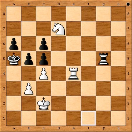 Position after Magnus Carlsen plays 67. Re4.