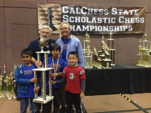 The k-3 Calchess State Champions from Mission San Jose Elementary School.