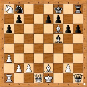 The position after 15... Qxh1+.