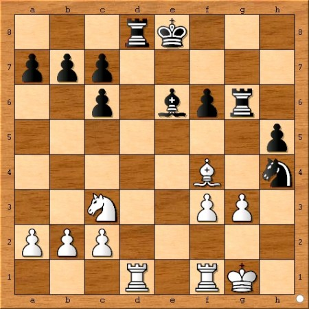 Position after Anand plays 19... Rd8.