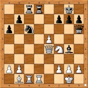 Black's bishop moves to g4 to avoid Nxe6 fxe6 f4 and to attack Susan Polgar's rook on d1.