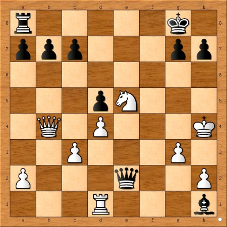 Position after 20... Bxh1