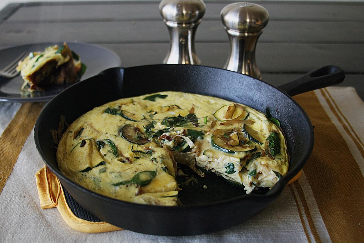 Fennel Zucchini Parmesan Frittata